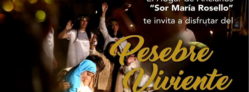 """Hoy pesebre viviente en el hogar de ancianos """"Sor María Rosello"""""""